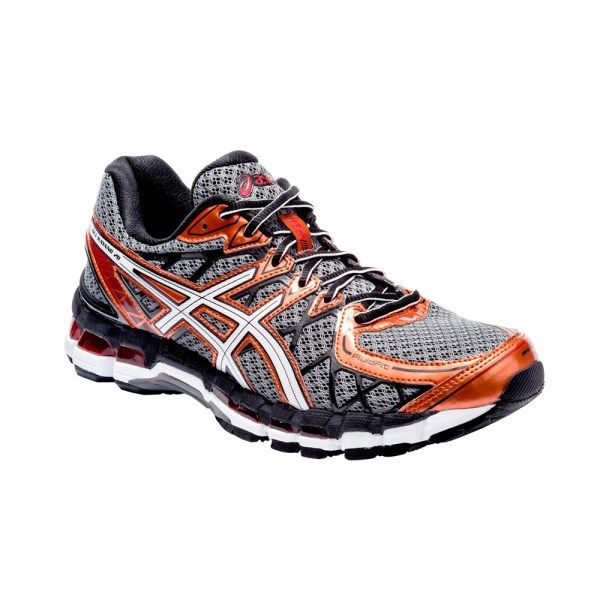 Asics Gel Kayano 20 Mens Running Shoes Storm White Rust With