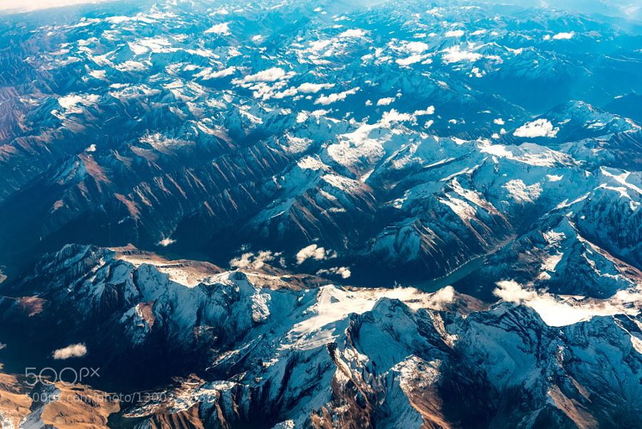 Mountains by Djem79 Shots from plane
