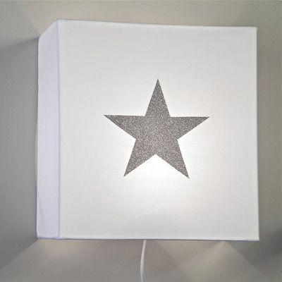 75€Chambre Coton Applique Argent Et En Étoiles Blanc Étoile OPXuZik