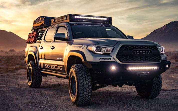 Download Wallpapers 4k Toyota Tacoma Trd Pro Tuning 2019