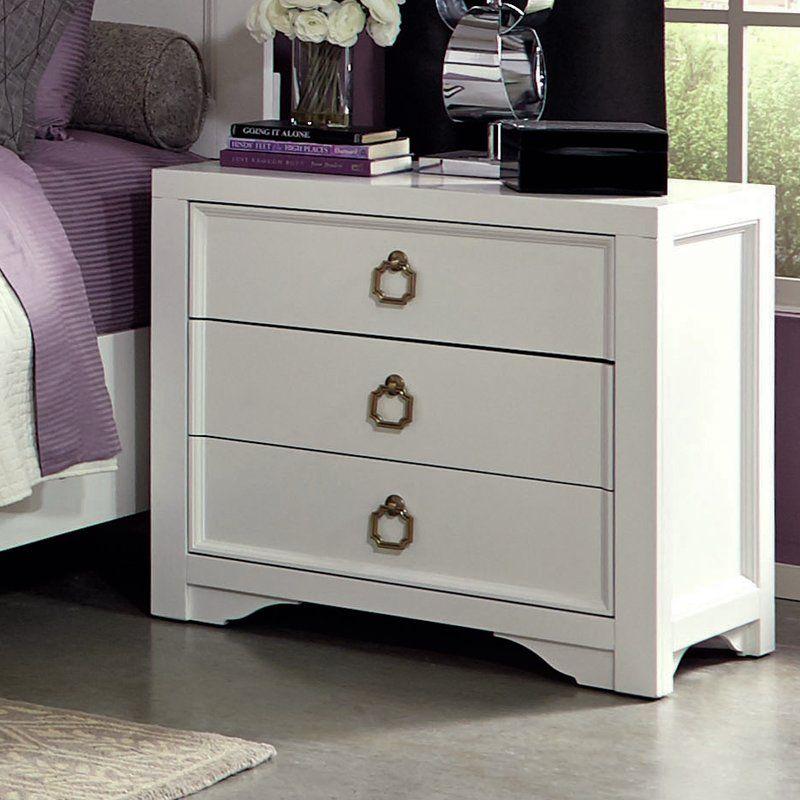 Fazeley 3 Drawer Nightstand Dresser As Nightstand Traditional Kids Bedroom Nightstand