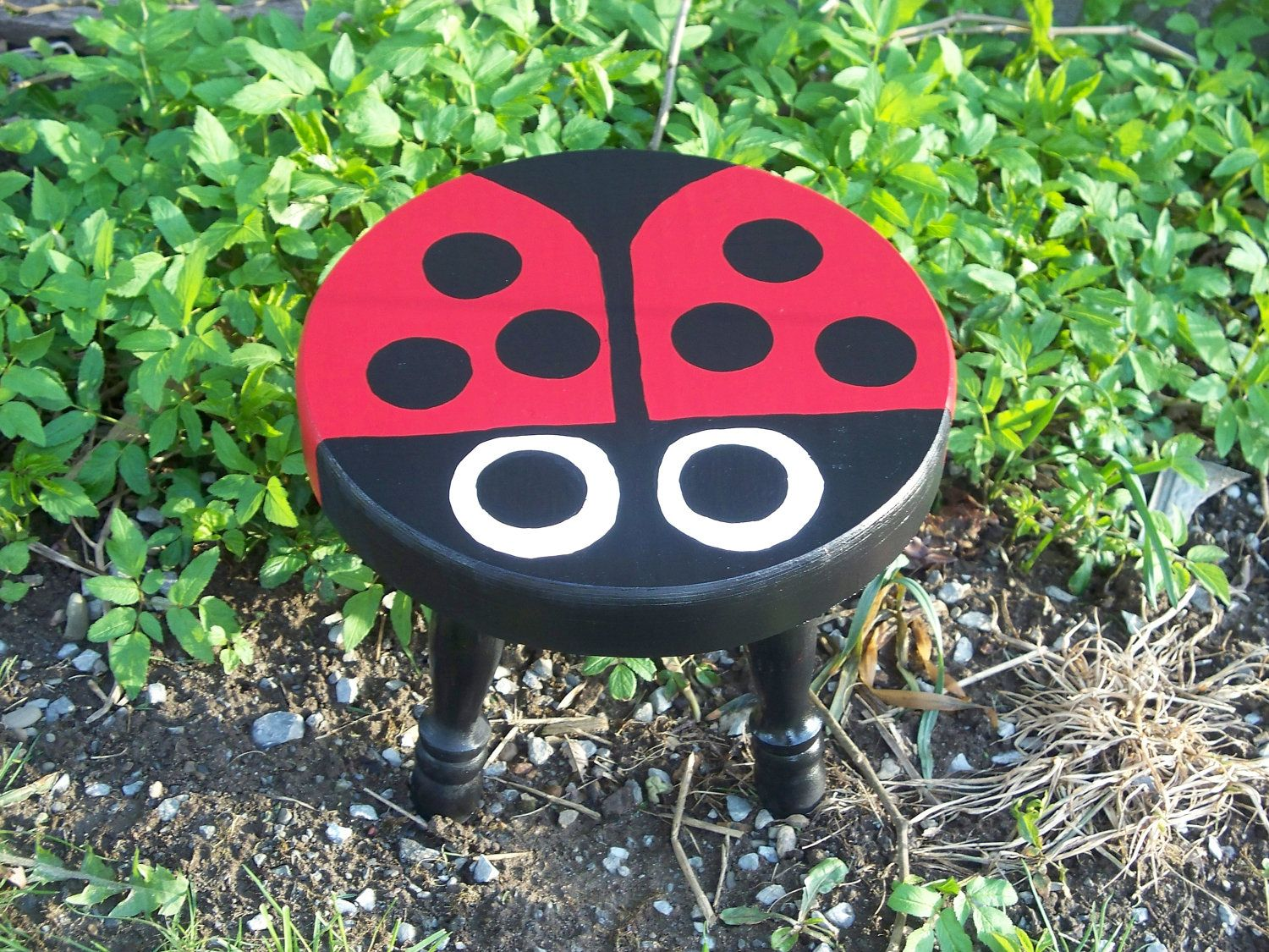 Ladybug Bench Home Decor baby or Garden by dmsmith04 on Etsy, $35.00 ...