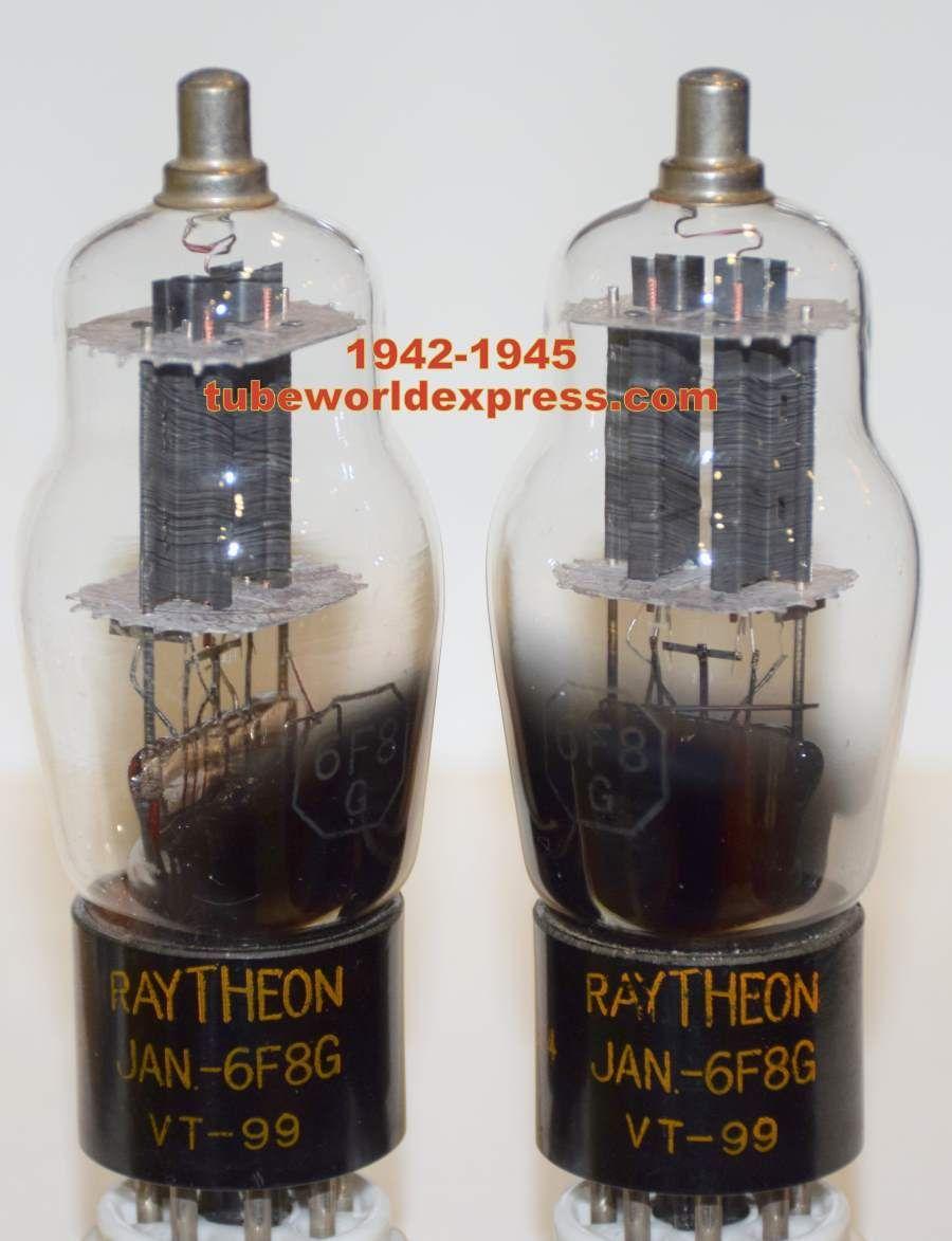 Best Sound 6f8gvt 99 Raytheon Nos 1945 Era Matched Pair Preamp