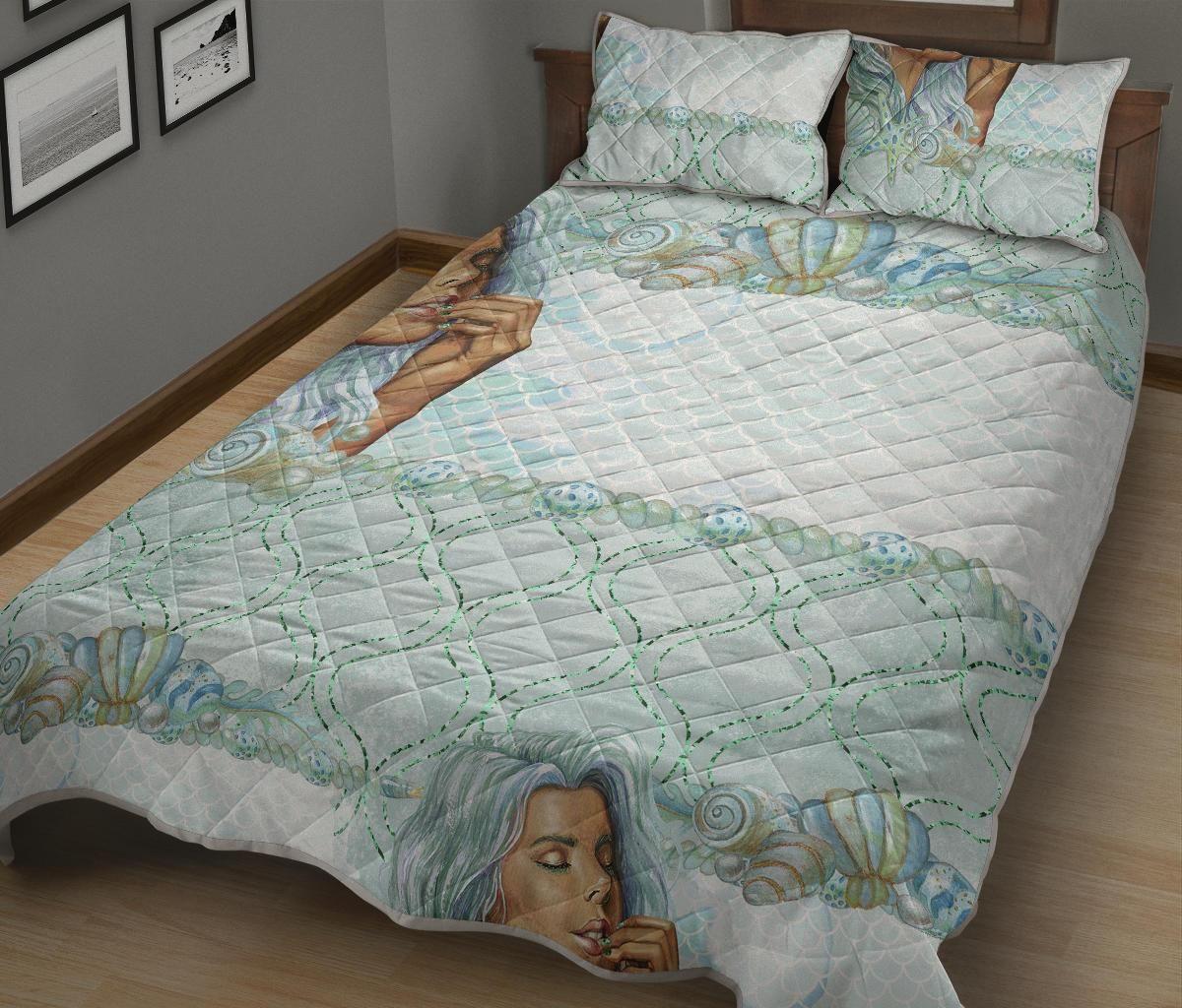 Comfort Quilt Bed Set Collection Summer Mermaid 02 - Quilt Bed Set - Comfort Quilt Bed Set Collection Summer Mermaid 02 / Queen