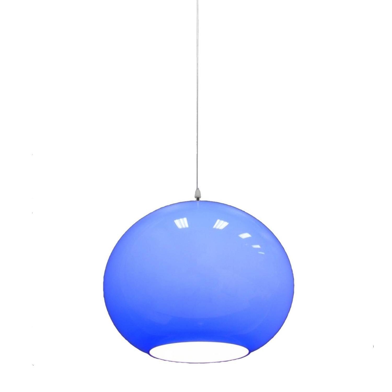 Vistosi hanging blue murano glass globe light fixture pendant vistosi hanging blue murano glass globe light fixture pendant from a unique collection of antique arubaitofo Gallery