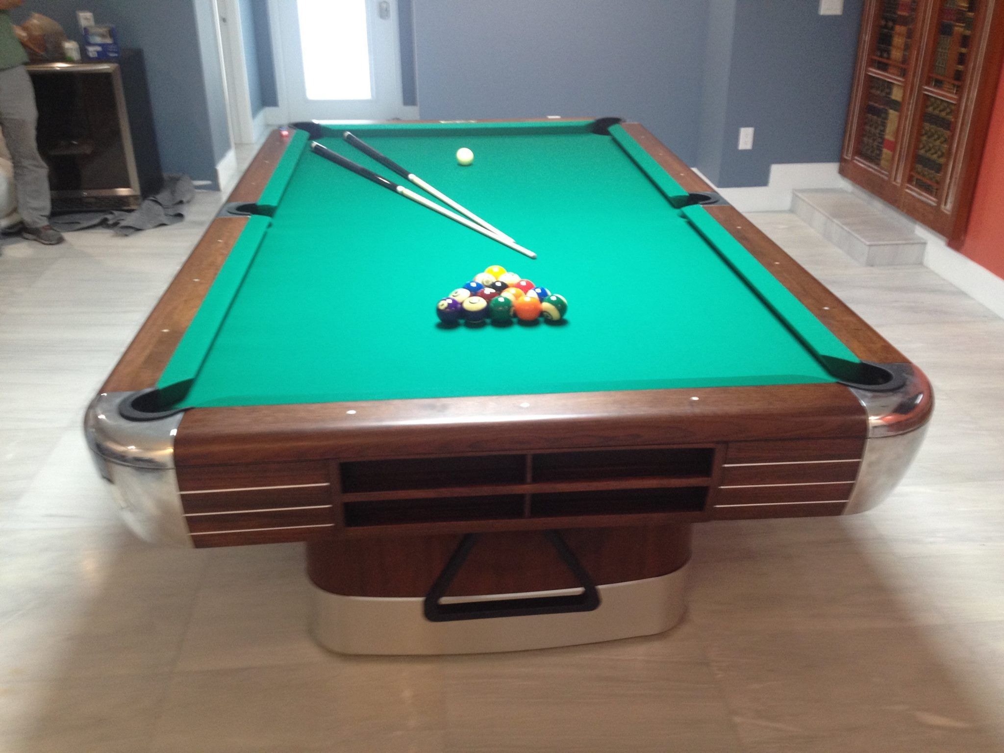 Brunswick Anniversary Model CI Restoration Completed By On The - Pool table movers toledo ohio