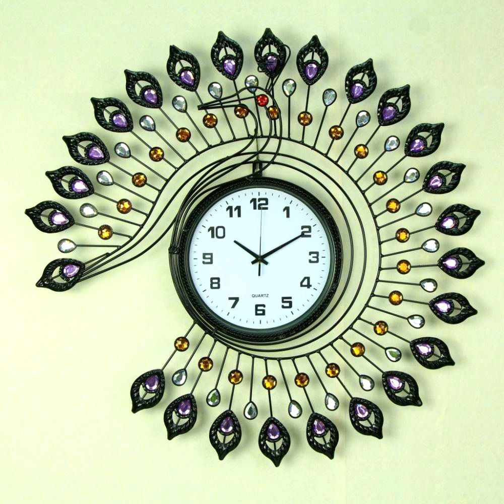 FurnitureGlamorous Decorative New Wall Clock Modern Design ...