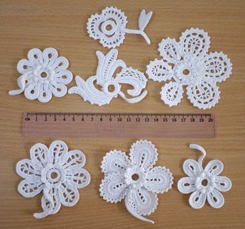 Exquisite Butterfly Lace Applique Trim In White For DIY Home Party Decoration, Costume Design, Sewin #irishcrochetflowers