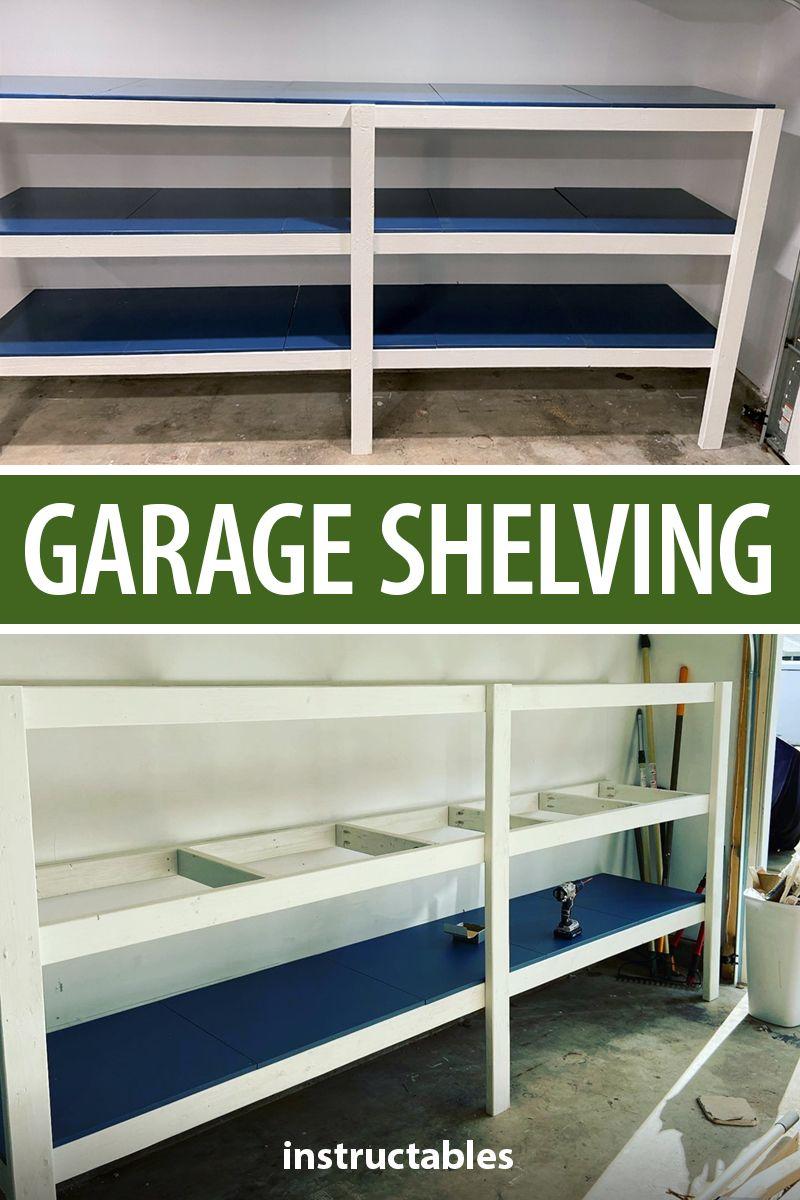 Garage Shelving 10ft Garage Shelving Wood Shelves Garage Shelving