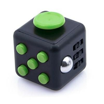 Image Of Branded Fidget Cube Green Promotional Box