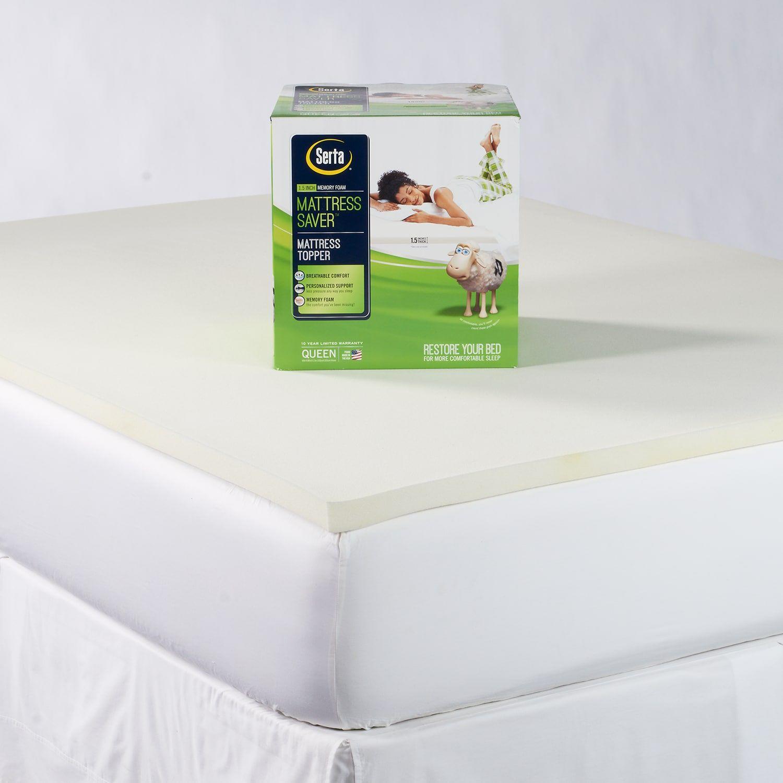 Serta Mattress Saver 1 5 Inch Memory Foam Mattress Topper Serta Mattress Serta Memory Foam Mattress Foam Mattress Topper