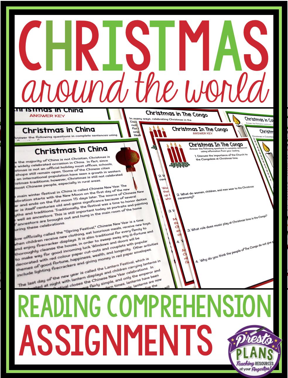 hight resolution of CHRISTMAS AROUND THE WORLD READING COMPREHENSION   Reading comprehension