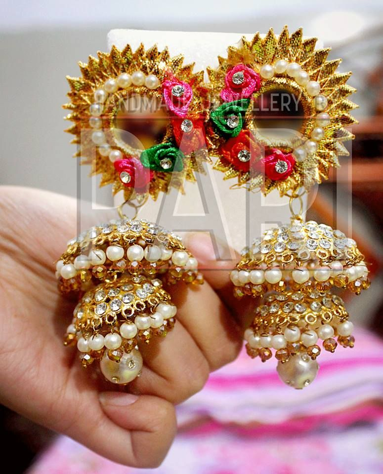a6d242a4414cec Jumkay Earrings- Handmade Mayon Mehndi Jewelry by Pari Designs Collection  (1)