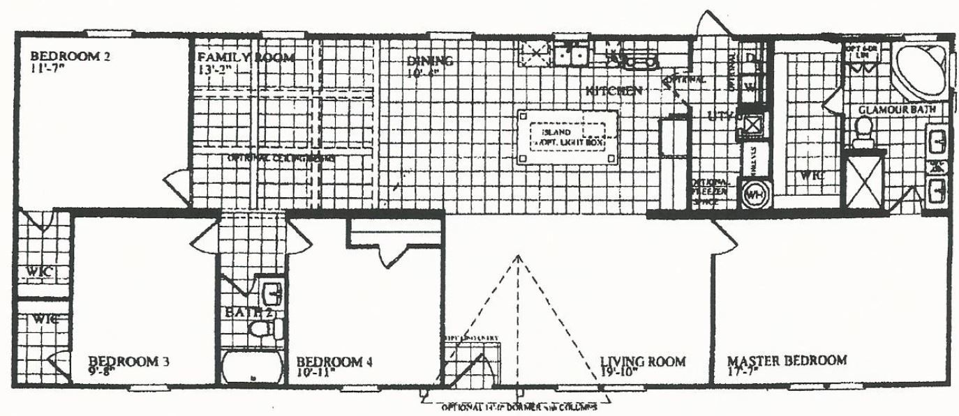 Marshall Mobile Homes 4 4 Bedroom 2 Bath 28 X 72 The Home Run Southern Energy Homes Of Texas 59 995 Delivered S House Plans Floor Plans Mobile Home