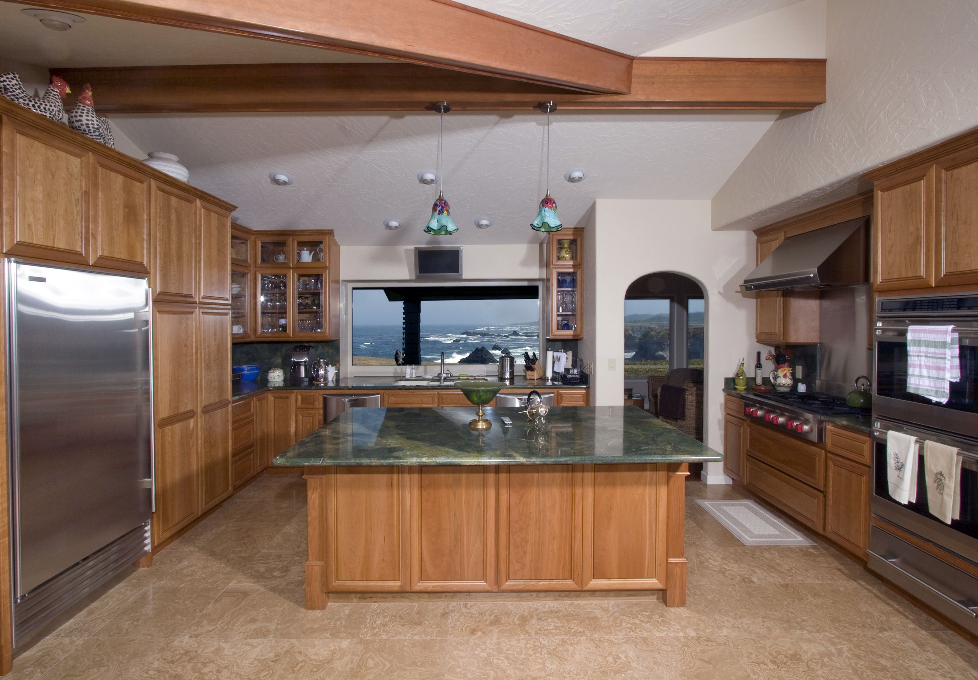 Gourmet Kitchen Has Professional Grade Stainless Steel Liances And Granite Counters Open Concept