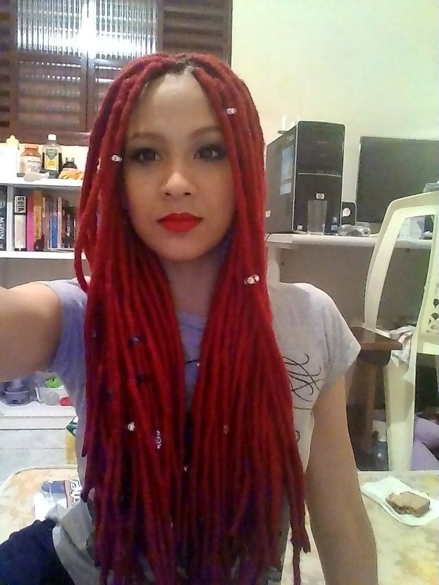 Red Yarn Braids Fun Black Is Beautiful Yarn Braids