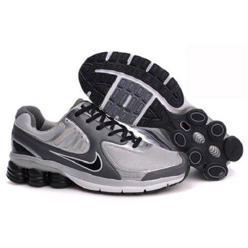 Collection Nike Shox Qualify Wolf Grey/Neutral Grey-Matte Silver-Black Men  Running. Asics ShoesSchwarze NikesMänner TurnschuheSchwarze ...
