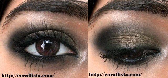Tutorial : Intense Bronze smokey eye makeup - Modern Apsara Look