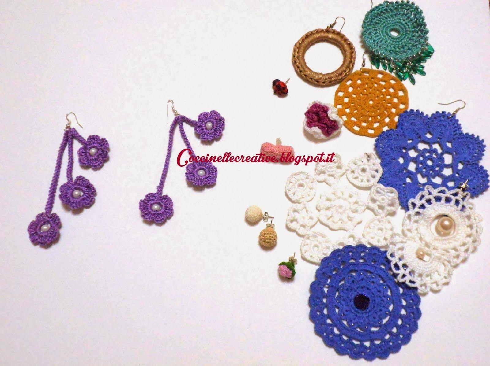 Orecchini Piccole Coccinelle realizzati a mano, venite a vederli tutti, per informazione ⇨ http://coccinellecreative.blogspot.it/search/label/orecchini