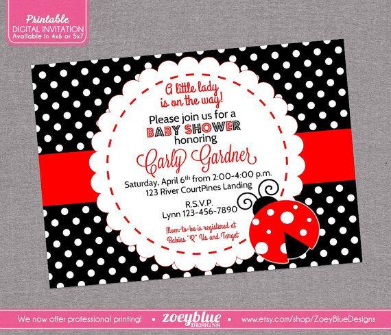 Ladybug baby shower invitation lady bug by zoeybluedesigns on etsy ladybug baby shower invitation lady bug by zoeybluedesigns on etsy filmwisefo