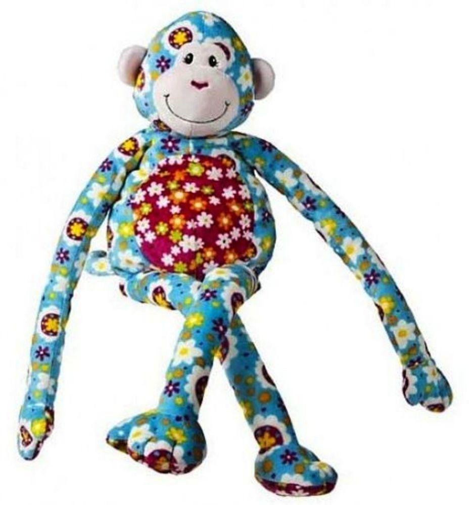 """Mary Meyer Plush Monkey ZazzyLegs Print Pizzazz 25"""" Soft Machine Washable    #MaryMeyer"""