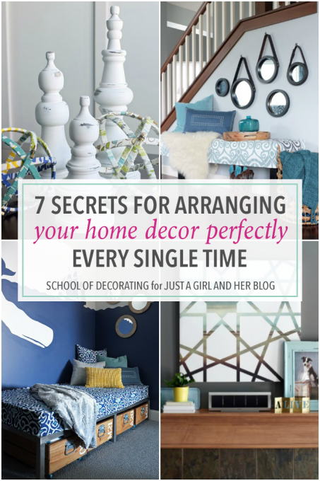 I've always wondered why my vignettes and styling looked off, and now I know! This genius post gives 7 helpful tips for arranging your home decor perfectly every time! Click over to the post to read more!