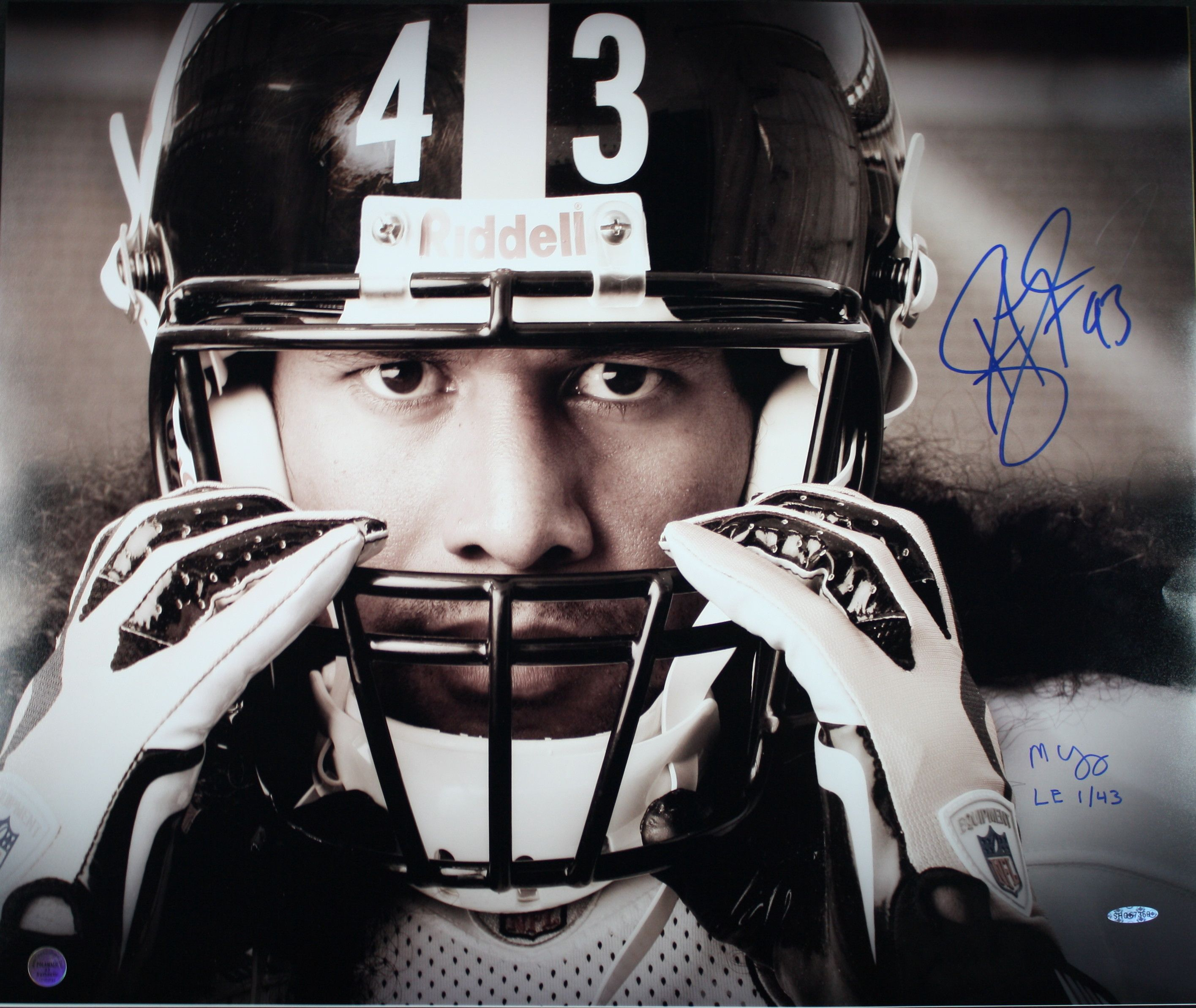 online store aeb7a f5d0f Troy Polamalu Signed LIMITED EDITION 20x24 Photograph (Only ...