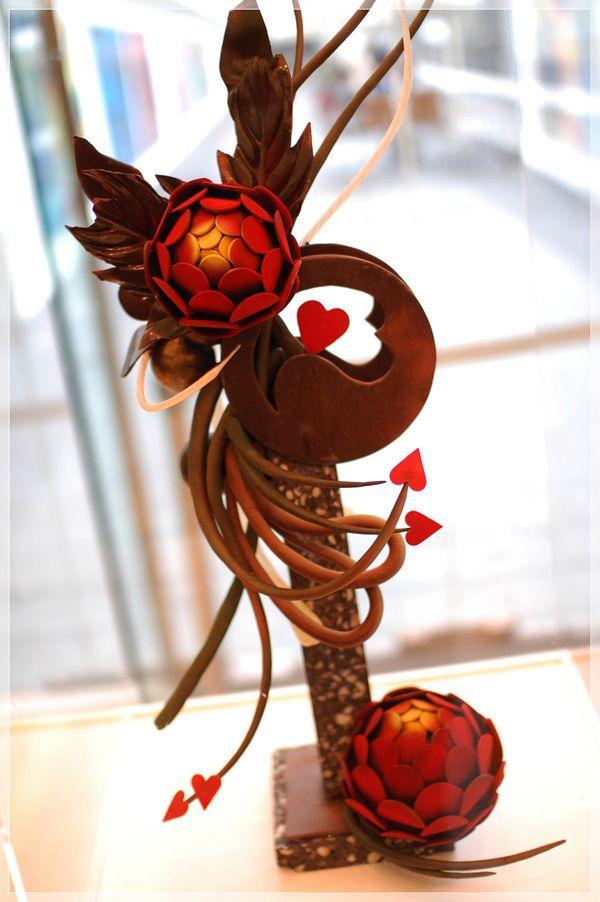 chocolate showpiece on pinterest chocolate sculptures pulled sugar art and blown sugar art. Black Bedroom Furniture Sets. Home Design Ideas