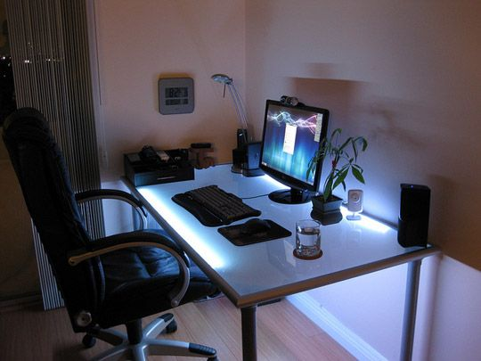 This Ikea Desk Is All About Setting A Mood Lighting Desk