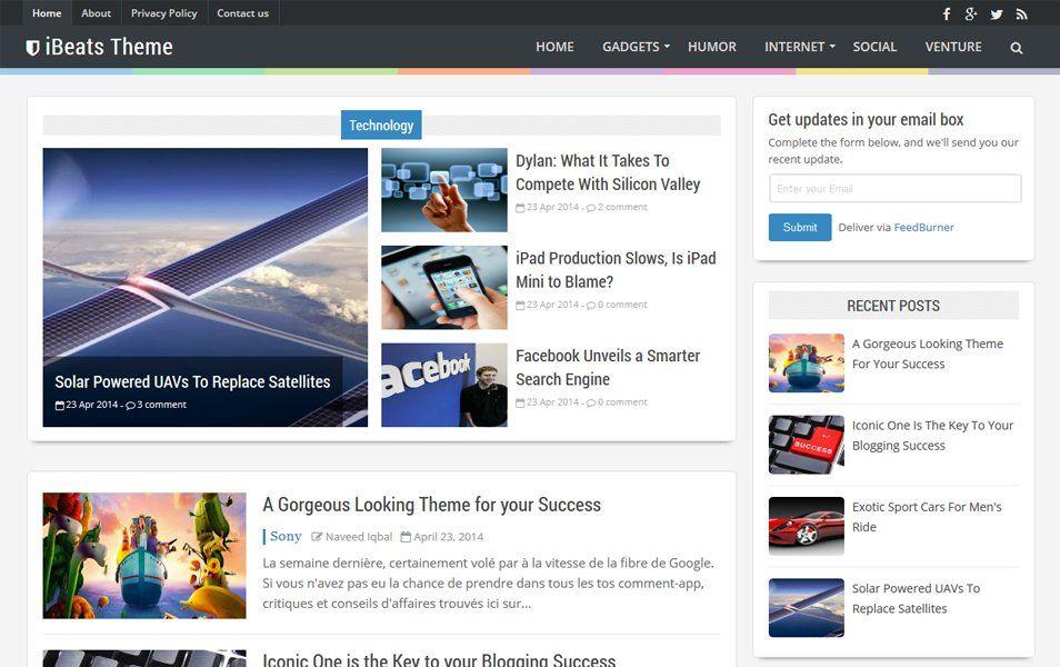 iBeats Responsive Blogger Template | Responsive Templates Design ...