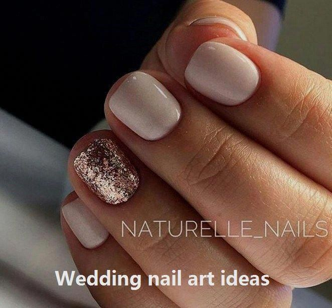 35 Simple Ideas for Wedding Nails Design #naildesigns #promnails #gelnails