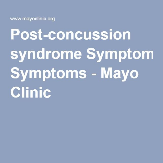 Post-concussion Syndrome - Symptoms And Causes