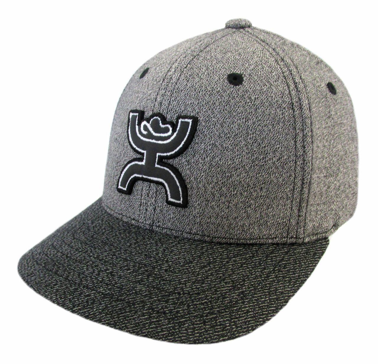 2500a3c2da6 Hooey Men s Onyx Grey   Black Flexfit Baseball Cap  1549GYBK