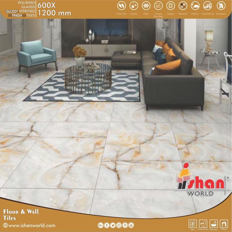 Polished Glazed Vitrified Tiles For Your Home Wall Floor In