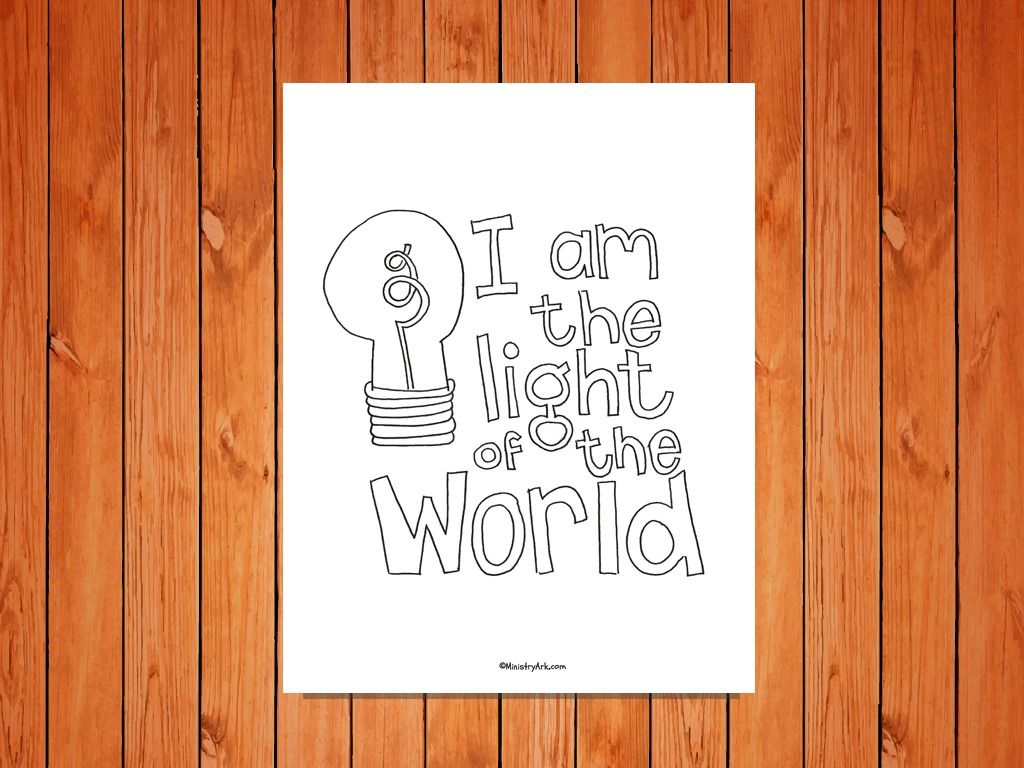 Light Of The World Printable