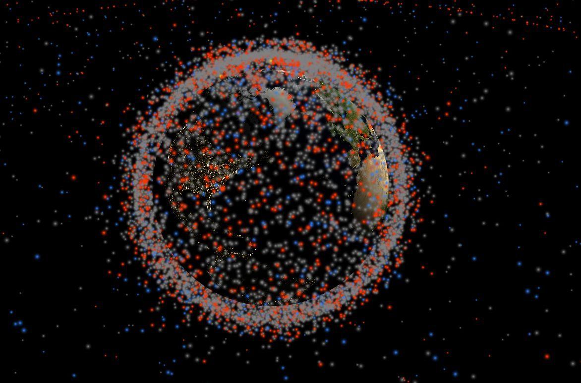 Stuff In Space: Der ganze Weltraumschrott in einer interaktiven Karte