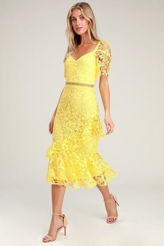 10++ Yellow lace dress ideas in 2021