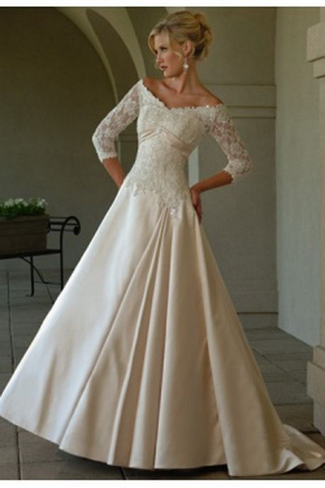 Wedding gowns for older women second marriage older for Older brides wedding dresses