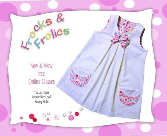 Girls Dress PDF Sewing Pattern - The Lily- toddler dress, gorgeous ...