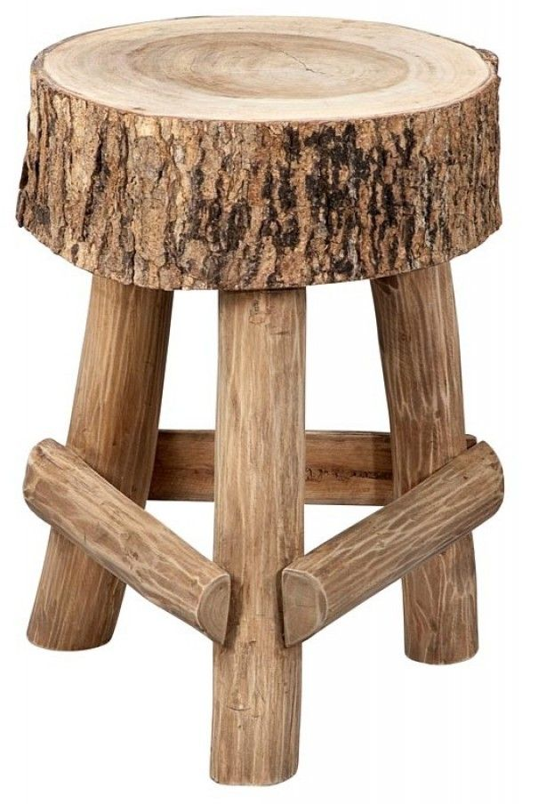 grappig houten krukje
