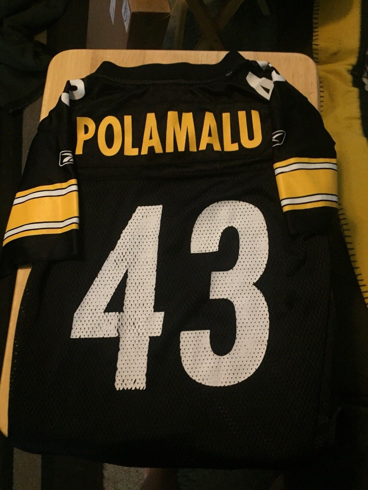 2f01b5e2f47 Reebok NFL Pittsburgh Steelers Polamalu Jersey Kids Size Small 8 ...