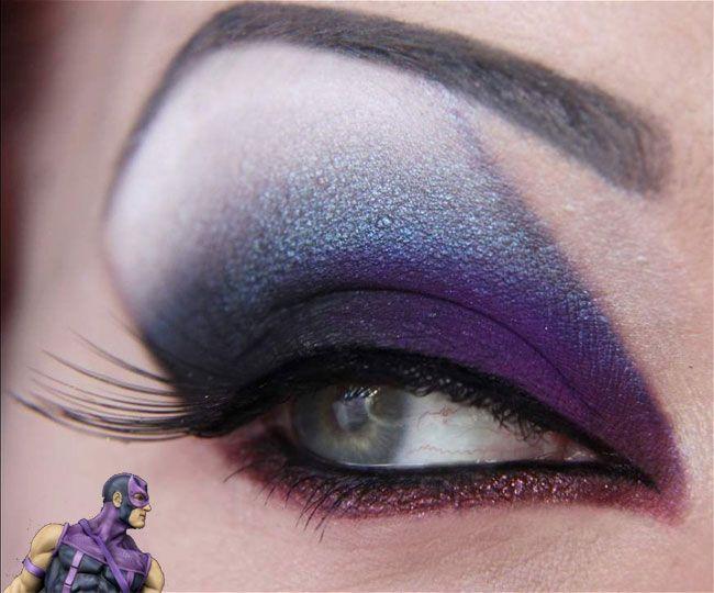 Maquiagem Gavião Arqueiro - Super-heróis!