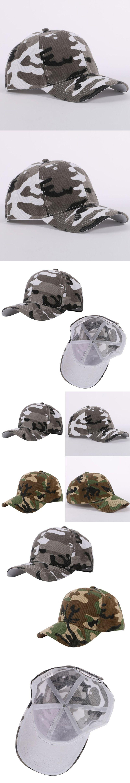 004625714b4 New Men Women Camouflage Half Mesh Army Baseball Cap Desert Jungle Snap Camo  Hat
