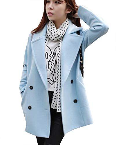 nouveau produit 81f7c ff591 Manteau en Laine Grande Taille pour Femme Revers Casual ...