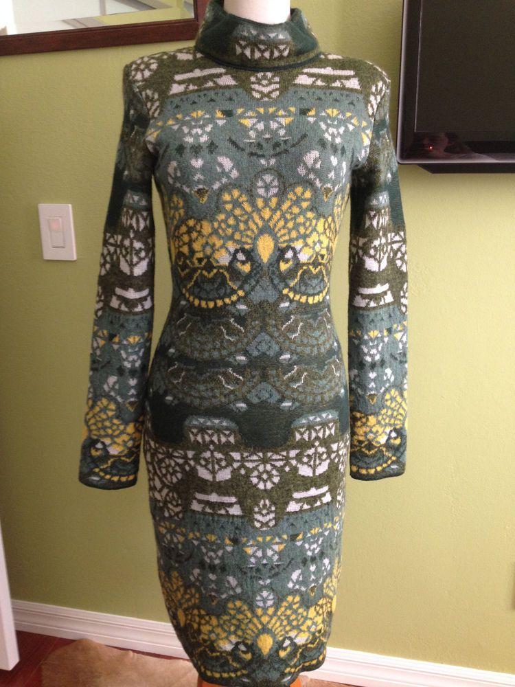 MARY KATRANTZOU knit sweater dress NWT Sz M Fall 2012