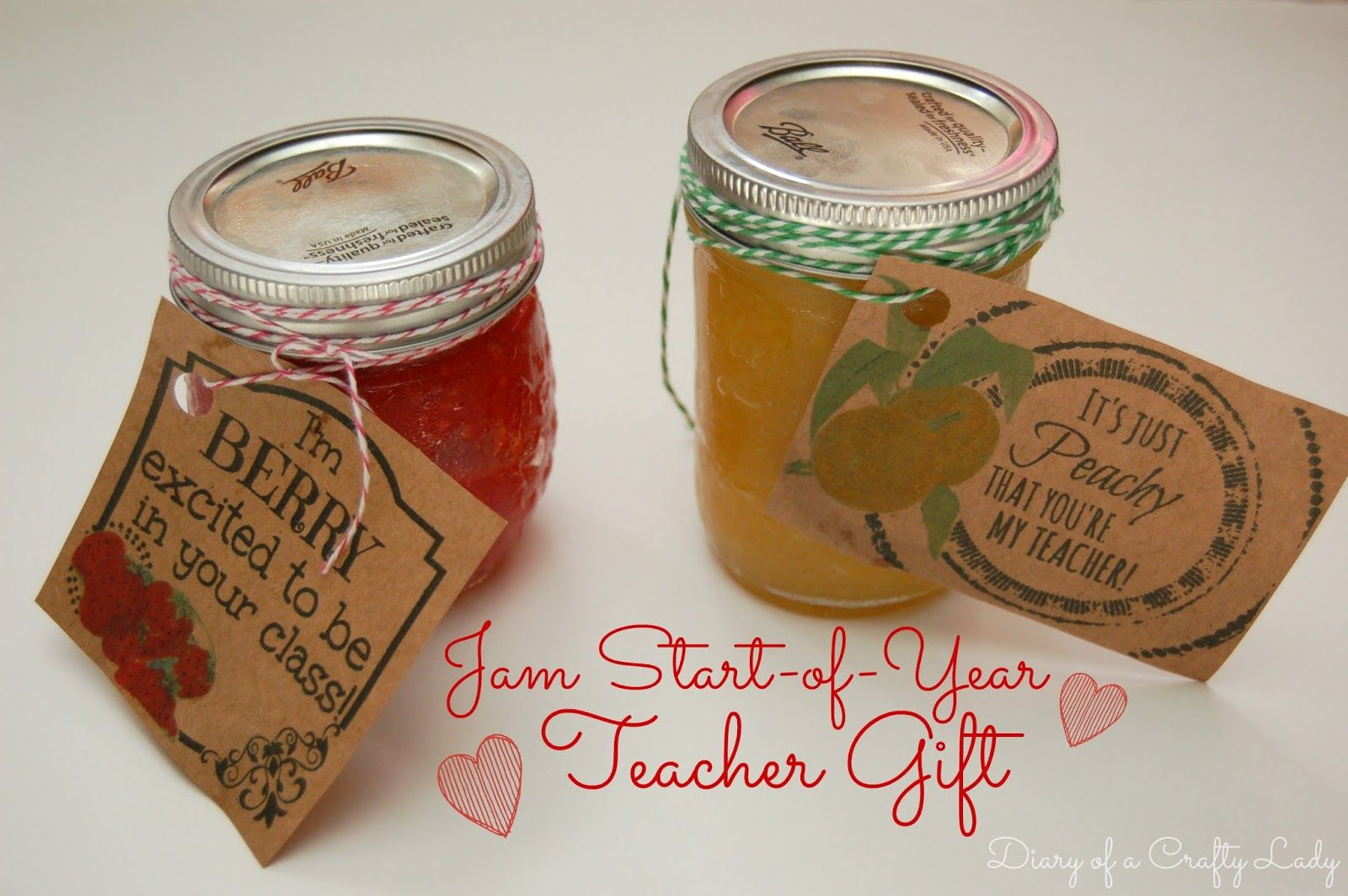 Diary of a crafty lady jam start of year teacher gift