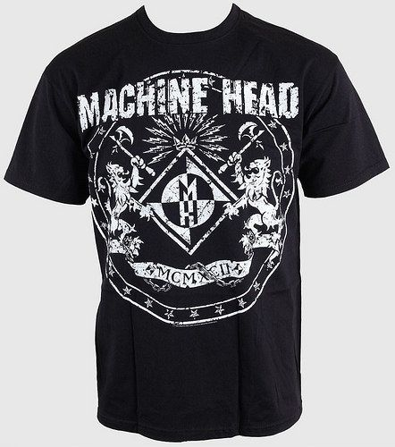 Machine Head Herren Classic Crest T-Shirt