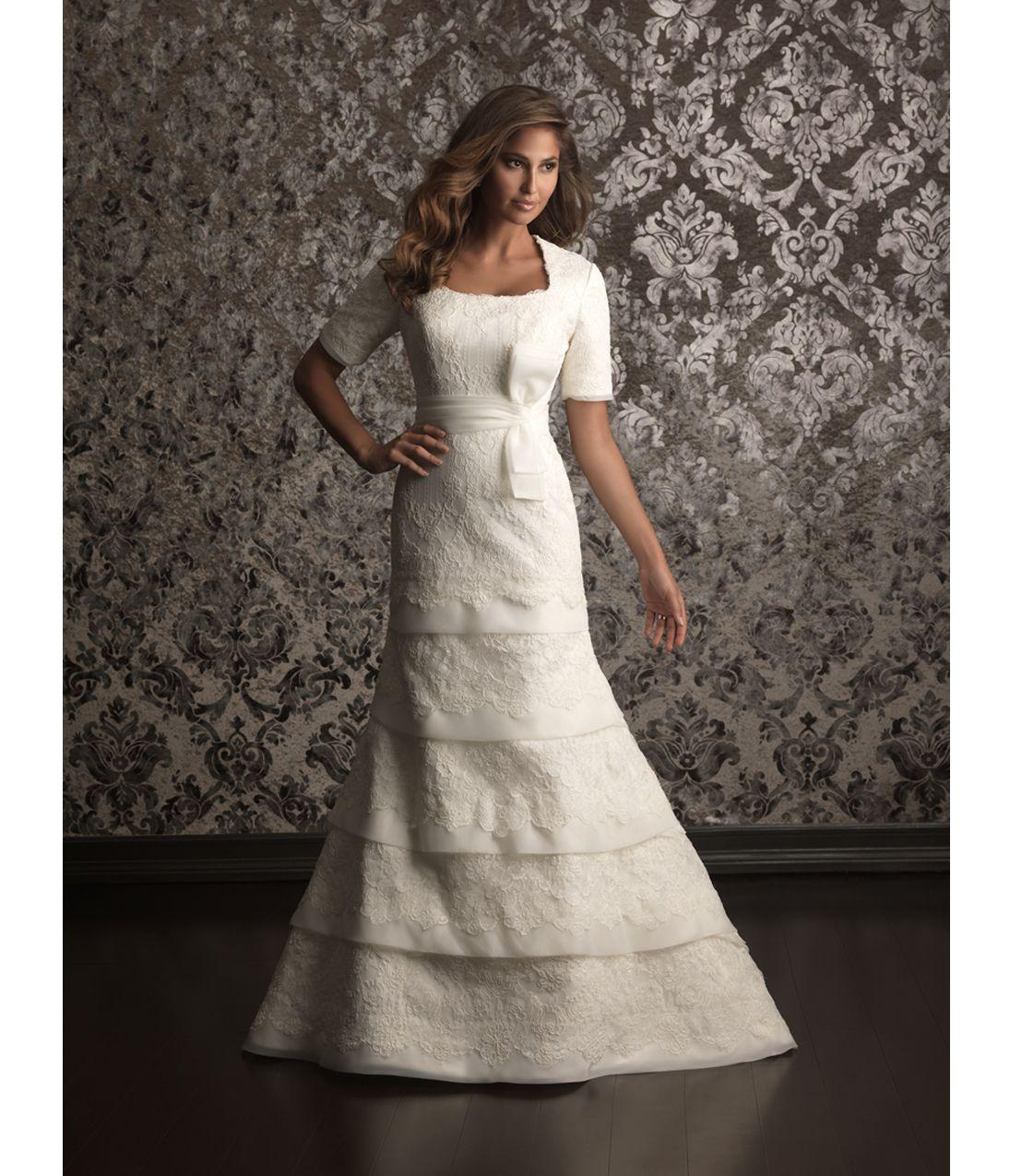 Allure Modest Wedding Gowns: Wedding Dress Organza, Modest Wedding