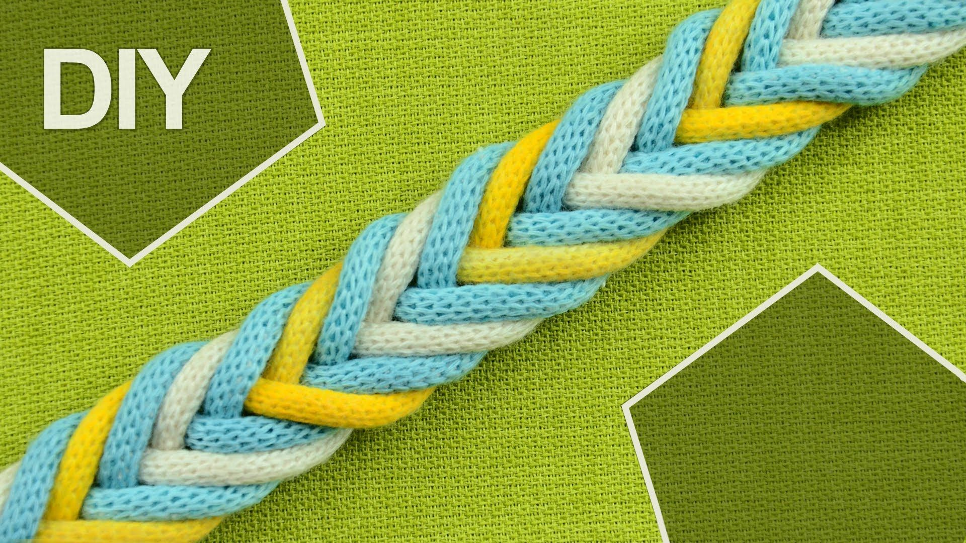 How to Make a 8-Strand Braid in 3 colors #howto #braid #8strands
