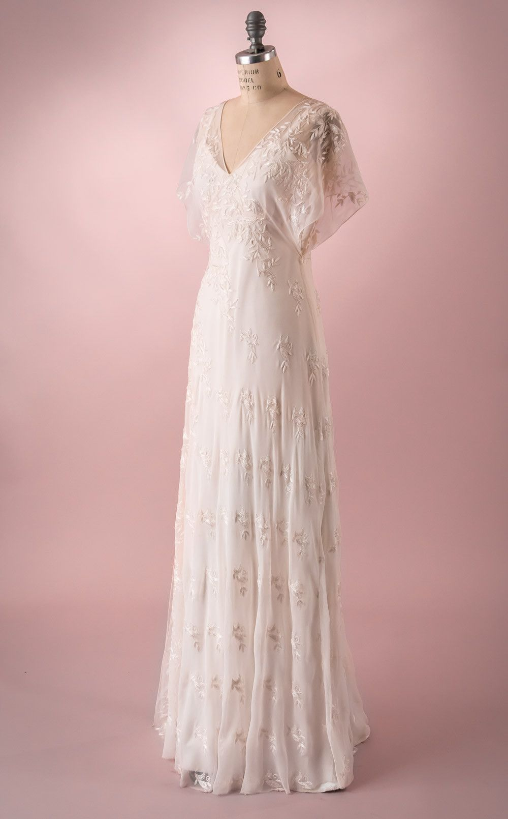 Vivian by Martin McCrea | Flowing silk chiffon, embroidered and ...